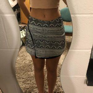 Printed Mini Asymmetrical Skirt